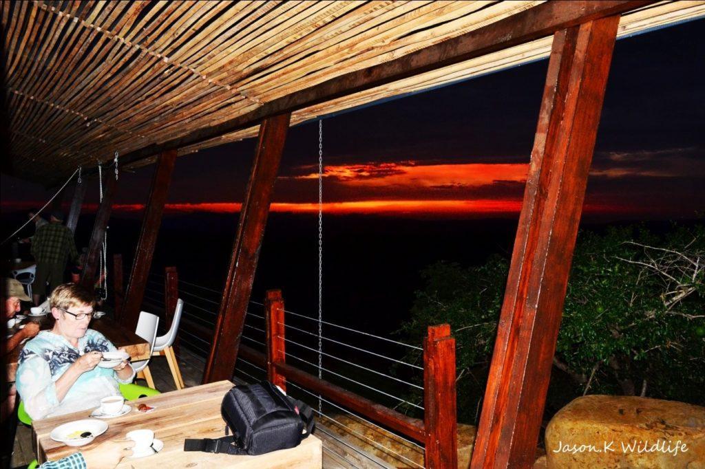 Sunset at Rhino Ridge Safari Lodge - photograph by Jason Kipling