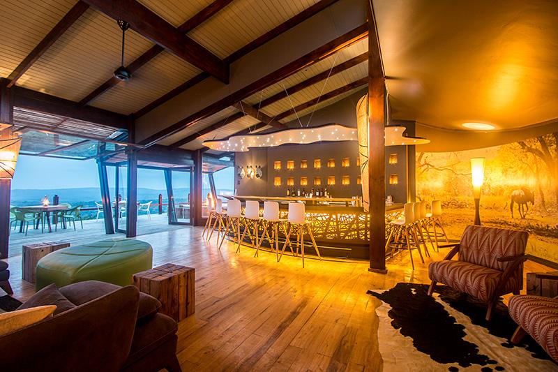 Lodge bar area - photograph by Guy Upfold
