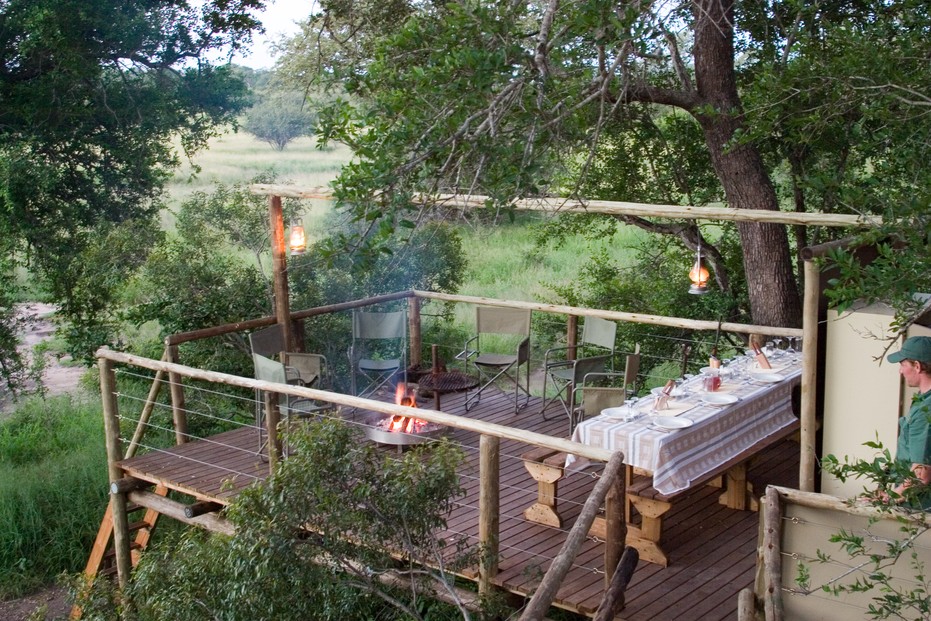 Sleepout dining from Rhino Walking Safaris in Kruger National Park
