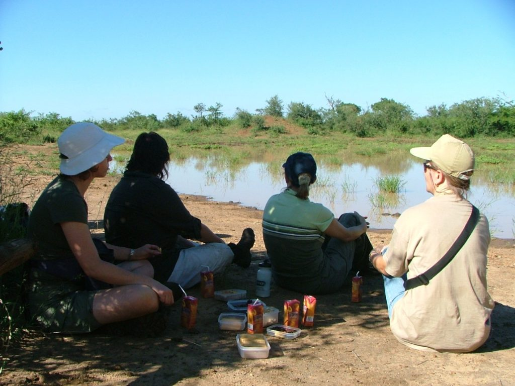 Picnic snacks on a morning Rhino Walking Safari in Kruger National Park