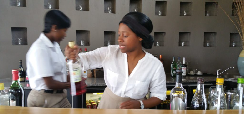 Food and Beverage Manager Maggie Legong empowers local Hlabisa grace Sphe Mbatha