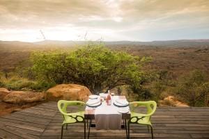 Luxury Safari Lodge Hluhluwe Accommodation Dining Deck