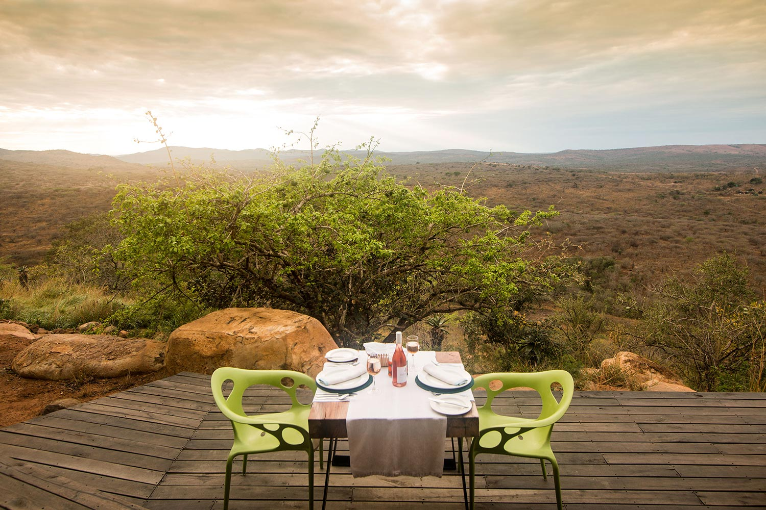 Luxury Safari Lodge Hluhluwe Accommodation Dining Deck