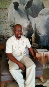 Rhino Ridge Safari Lodge Manager Sphamandla Shabalala loves to empower local staff