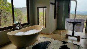 Marvel at the scope of these views, even from your bathroom