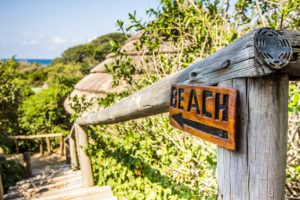 Beach lodge To The Beach Sign - photo by Kim Steinberg